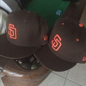 San Diego Padres new era hats 7-1/2 brown